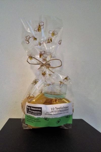 Bio Imkerei Peterseil Produkt Teelichter